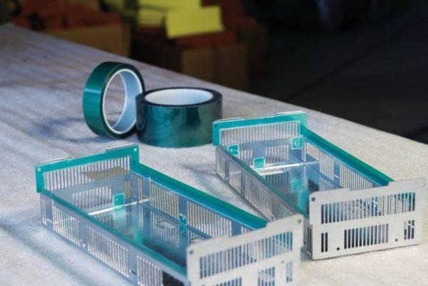 Zelená polyester/silikonová maskovací páska - 25 mm / 66 m