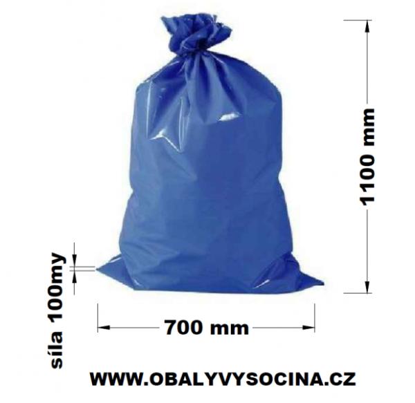 Pytle na odpad modré 70 x 110 cm EXTRA SILNÉ 100 my