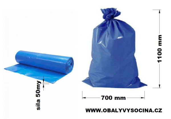 Pytle na odpad modré 70 x 110 cm