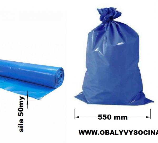 Pytle na odpad modré 55 x 100 cm