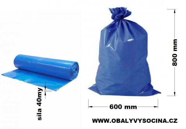 Pytle na odpad modré 60 x 80 cm