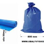 Pytle na odpad modré 80 x 100 cm