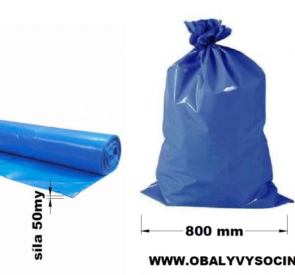 Pytle na odpad modré 80 x 120 cm