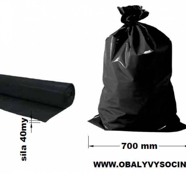 Pytle na odpad černé 70 x 110 cm