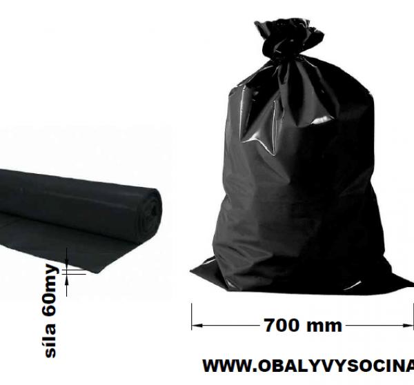 Pytle na odpad černé 70 x 110 cm EXTRA SILNÉ 60 my [20 ks]
