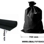 Pytle na odpad černé 70 x 110 cm EXTRA SILNÉ 80 my [15 ks]