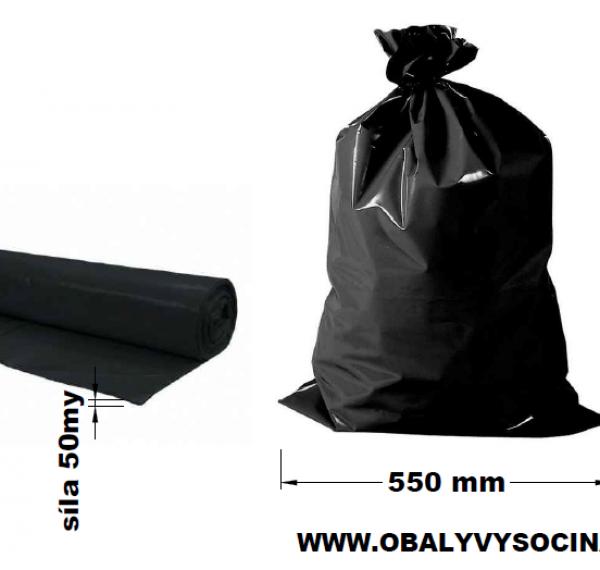 Pytle na odpad černé 55 x 100 cm