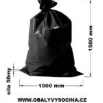 Pytle na odpad černé 100 x 150 cm