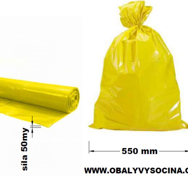Pytle na odpad žluté 55 x 100 cm
