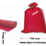 Pytle na odpad červené 70 x 110 cm EXTRA SILNÉ 80 my [15 ks]