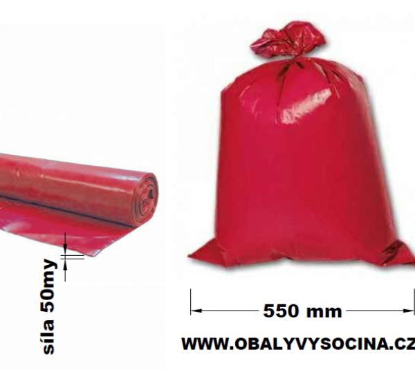 Pytle na odpad červené 55 x 100 cm