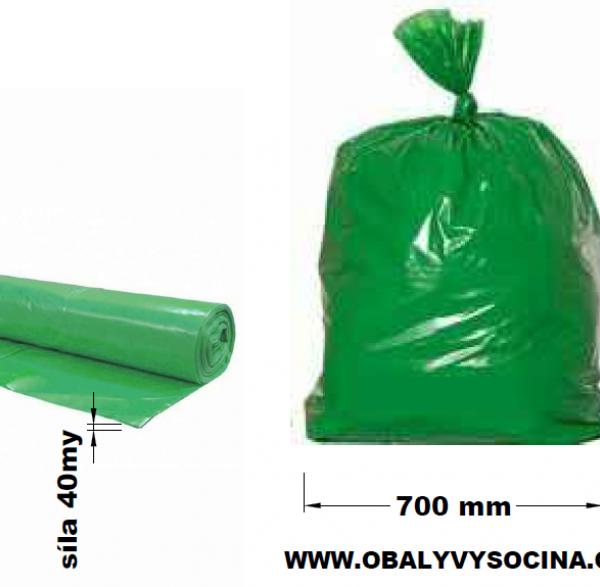 Pytle na odpad zelené 70 x 110 cm