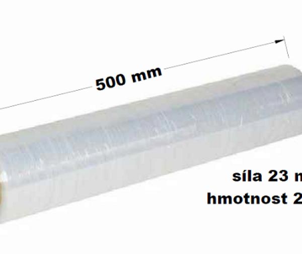 Ruční strečová fólie průtažná fixační šíře 500x23myx2