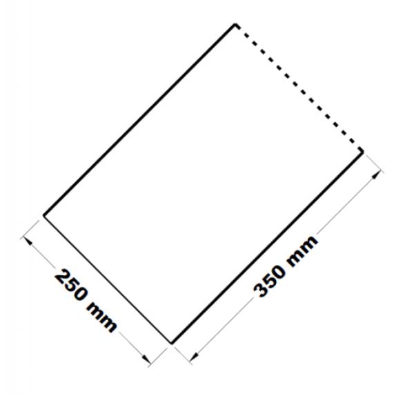 Mikrotenové přířezy 25 x 35 cm