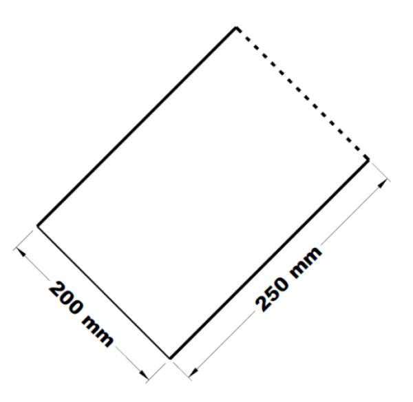 Mikrotenové přířezy 20 x 25 cm