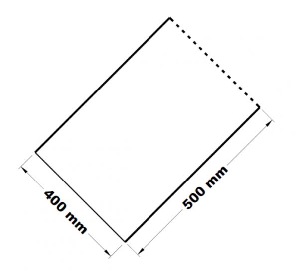 Mikrotenové přířezy 40 x 50 cm