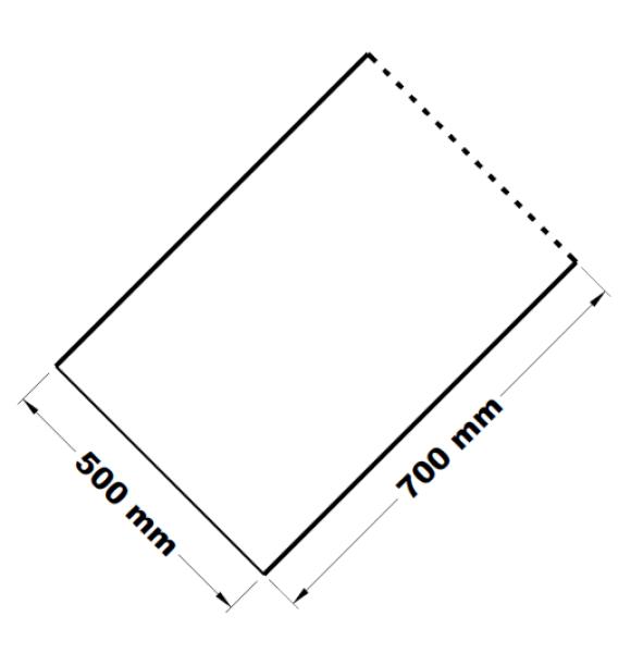 Mikrotenové přířezy 50 x 70 cm