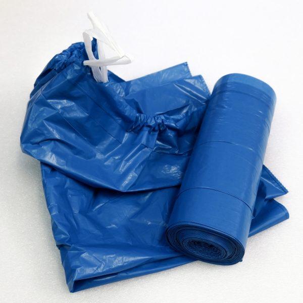 Pytle na odpad zatahovací modré 70 x 100 cm