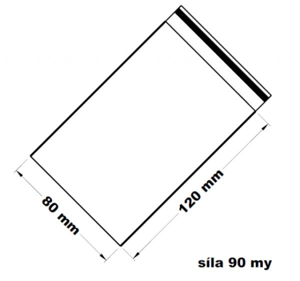 Rychlouzavírací sáček - extra pevné  8 x 12 cm