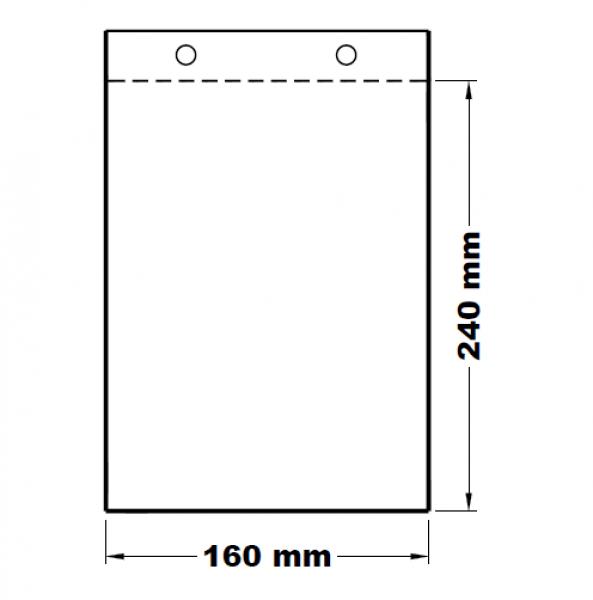 Mikrotenové svačinové sáčky odtrhávací 16 x 24 cm [100 ks]