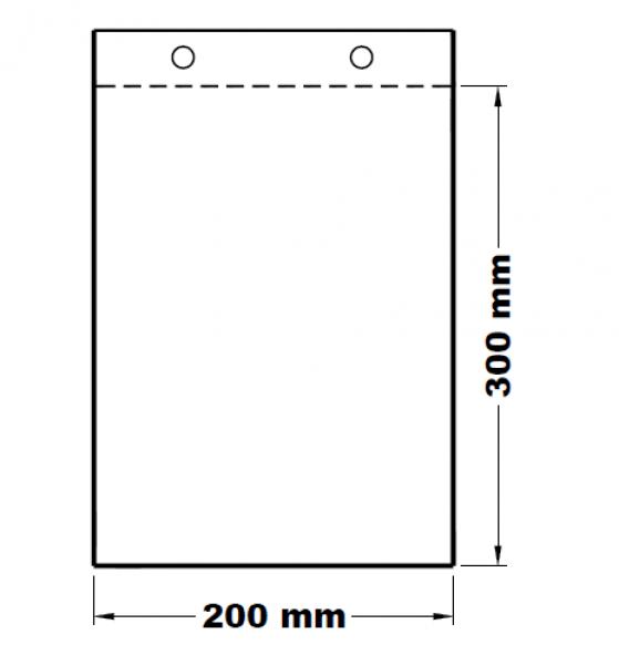 Mikrotenové svačinové sáčky odtrhávací 20 x 30 cm [100 ks]