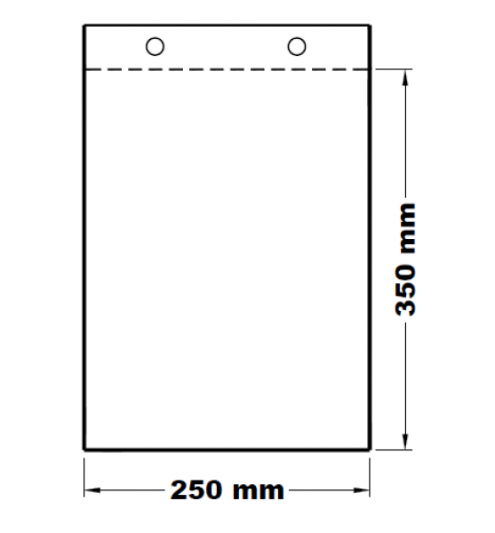 Mikrotenové svačinové sáčky odtrhávací 25 x 35 cm [100 ks]