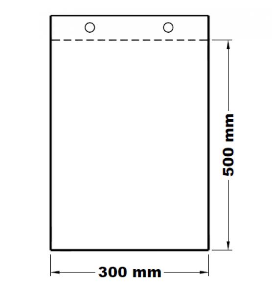 Mikrotenové svačinové sáčky odtrhávací 30 x 50 cm [100 ks]