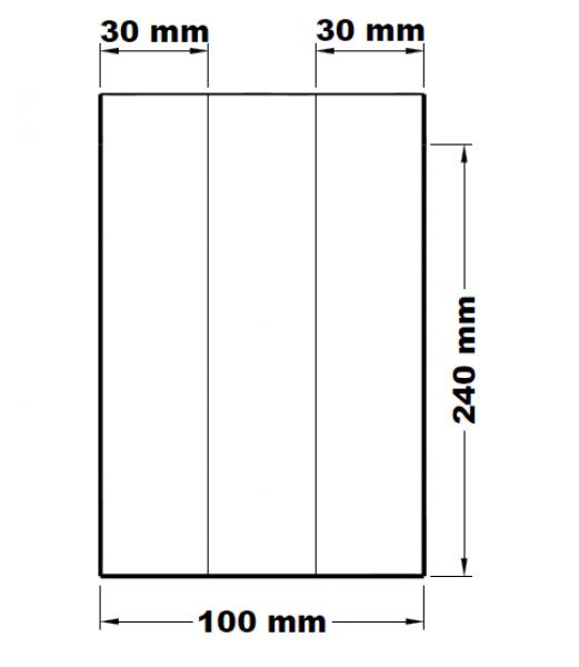 Svačinové sáčky lízací mikrotenové 10+6 x 24 cm [1000 ks]