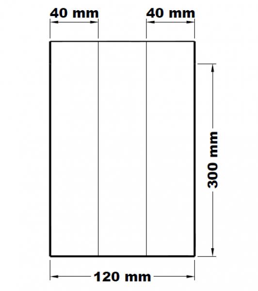 Svačinové sáčky lízací mikrotenové 12+8 x 30 cm [1000 ks]