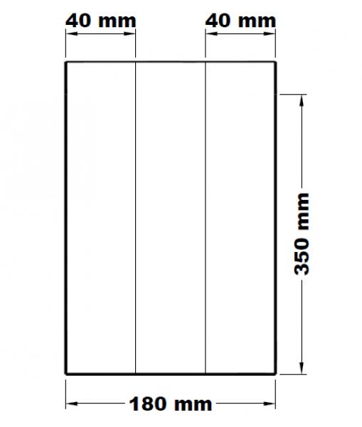 Svačinové sáčky lízací mikrotenové 18+8 x 35 cm [1000 ks]