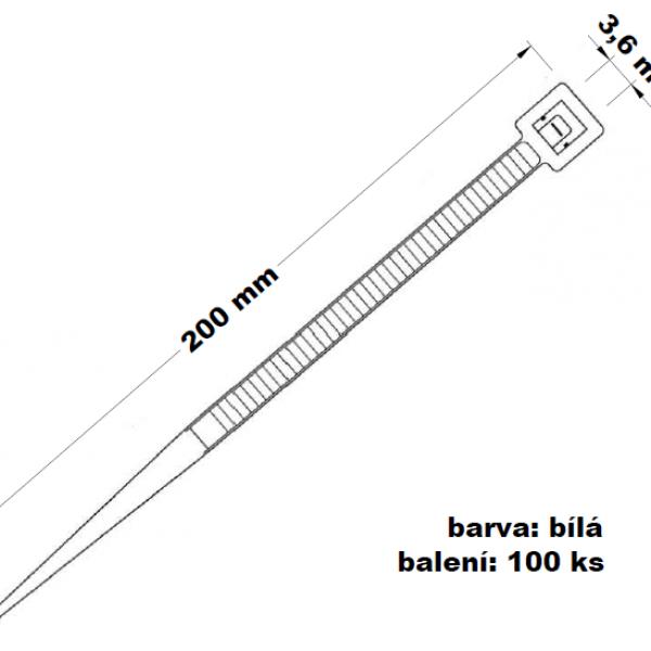 Páska stahovací 200 x 3