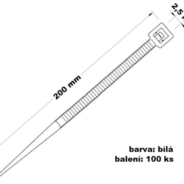 Páska stahovací 200 x 2