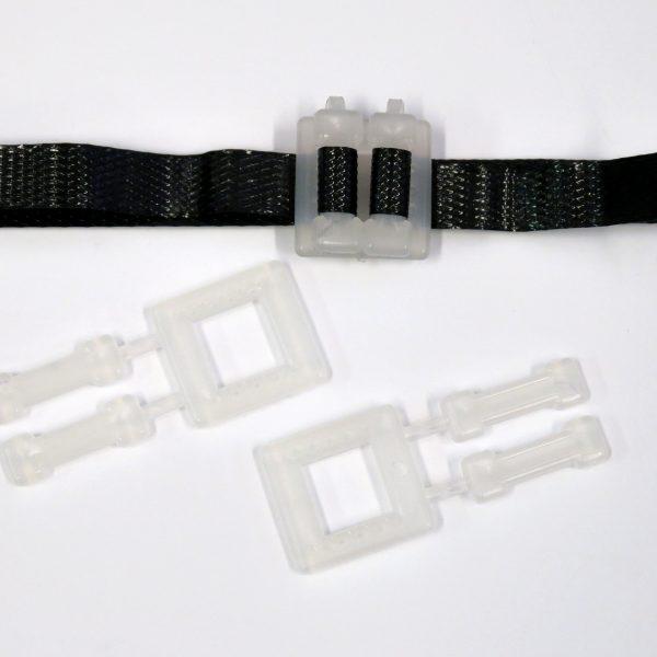 Spony vázací plastové pro pásku 9 - 12 mm [1000 ks]