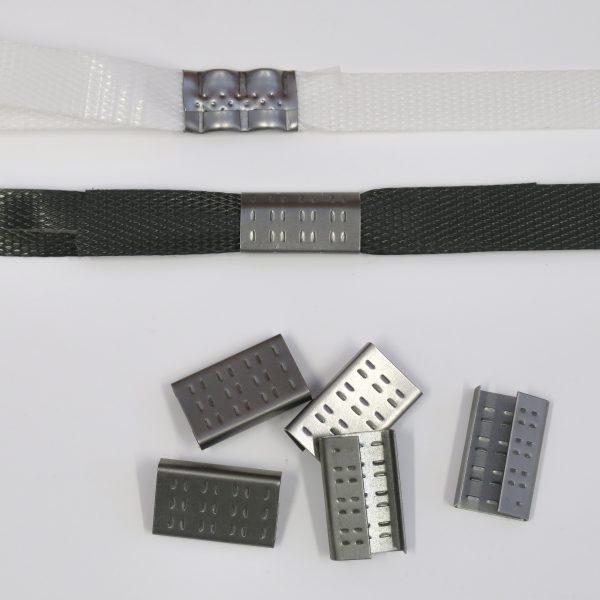 Spony vázací plechové pro pásku 15 mm [1600 ks]