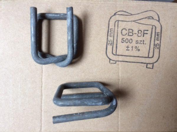 Spony - 25mm B8/F  kovové fosfátové