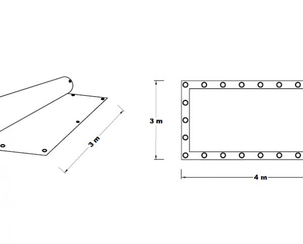 Plachta zakrývací 3x4 m 85 g/m2 STPL3X4