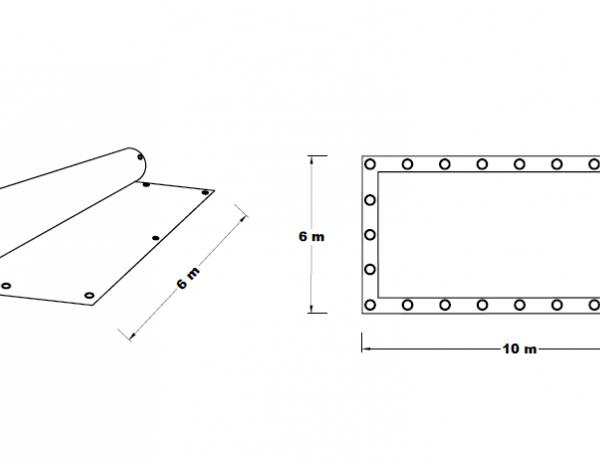 Plachta zakrývací 6x10 m 85 g/m2 STPL6X10
