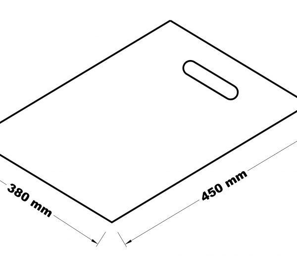 Taška s průhmatem 38x45
