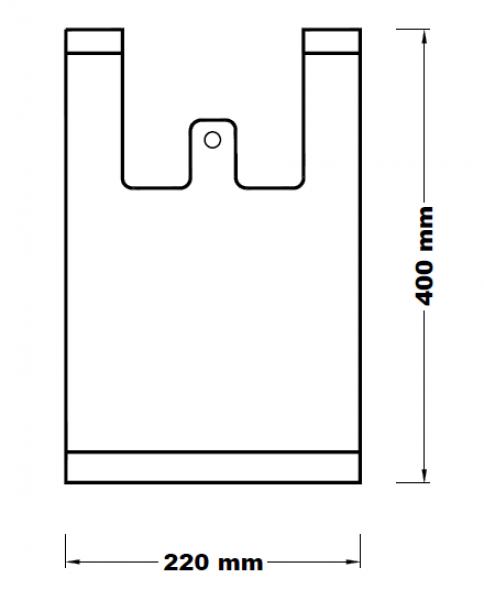 Mikrotenová taška 2 kg [100 ks]