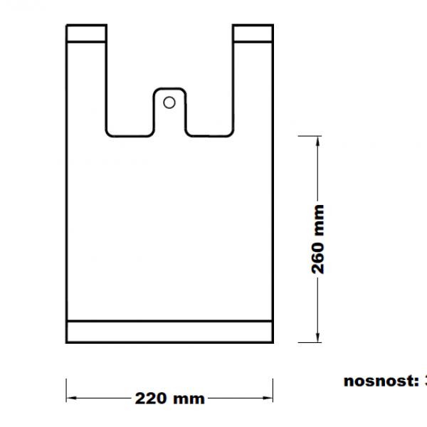 Mikrotenová taška 3 kg odtrhávací [100 ks]