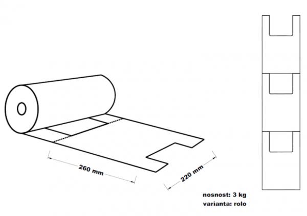Mikrotenová taška 3kg 22+12x40cm