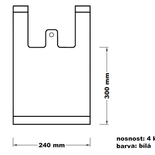 Mikrotenová taška 4 kg bílá [100 ks]
