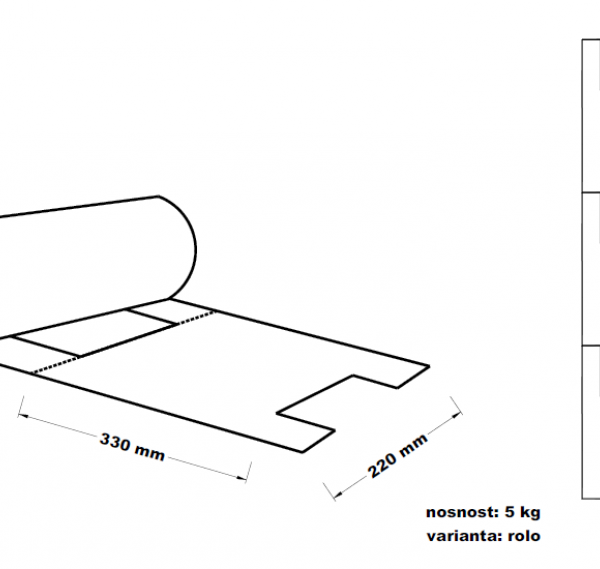 Mikrotenová taška 5kg 22+12x49cm