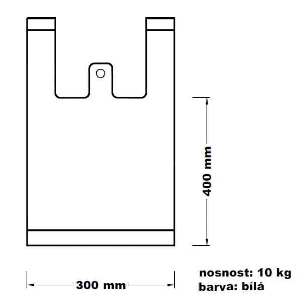 Mikroténová taška 10kg bílá 100ks