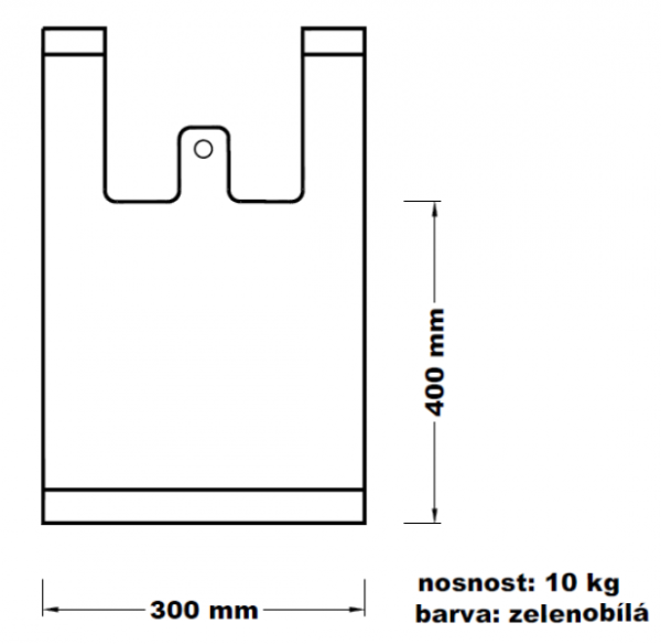 Mikroténová taška 10kg zelenobílá 100ks