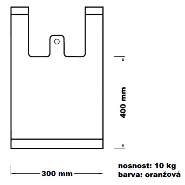 Mikroténová taška 10kg oranžová 100ks