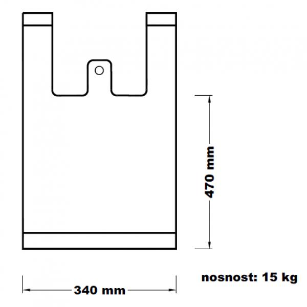 Mikroténová taška 15kg modrá 36*70cm 100ks
