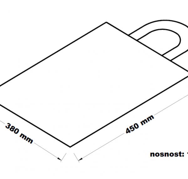 Taška s uchy s motivem 10 kg 38 x 43 cm