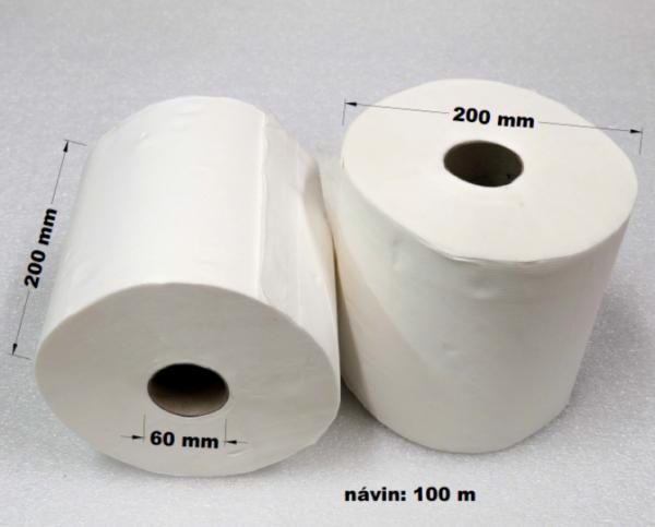 Papírové utěrky 108 m bily 2vr