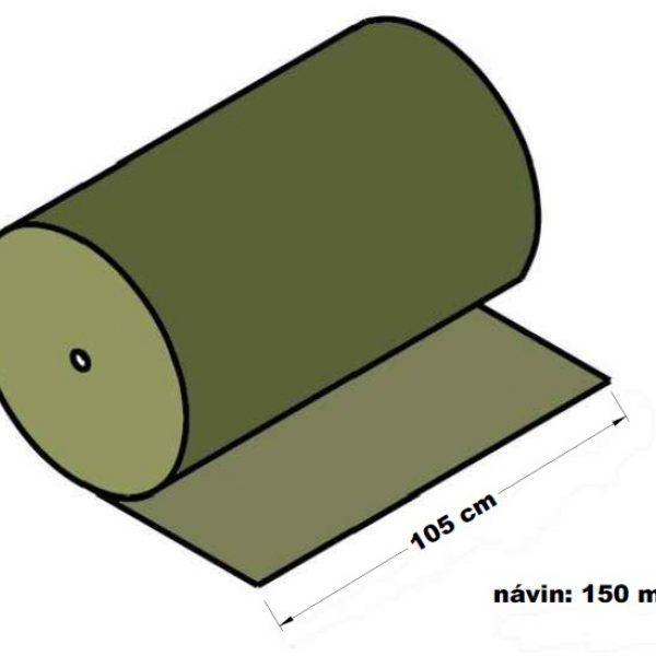 Lepenka vlnitá dvouvrstvá papírová 105 cm x 150 m